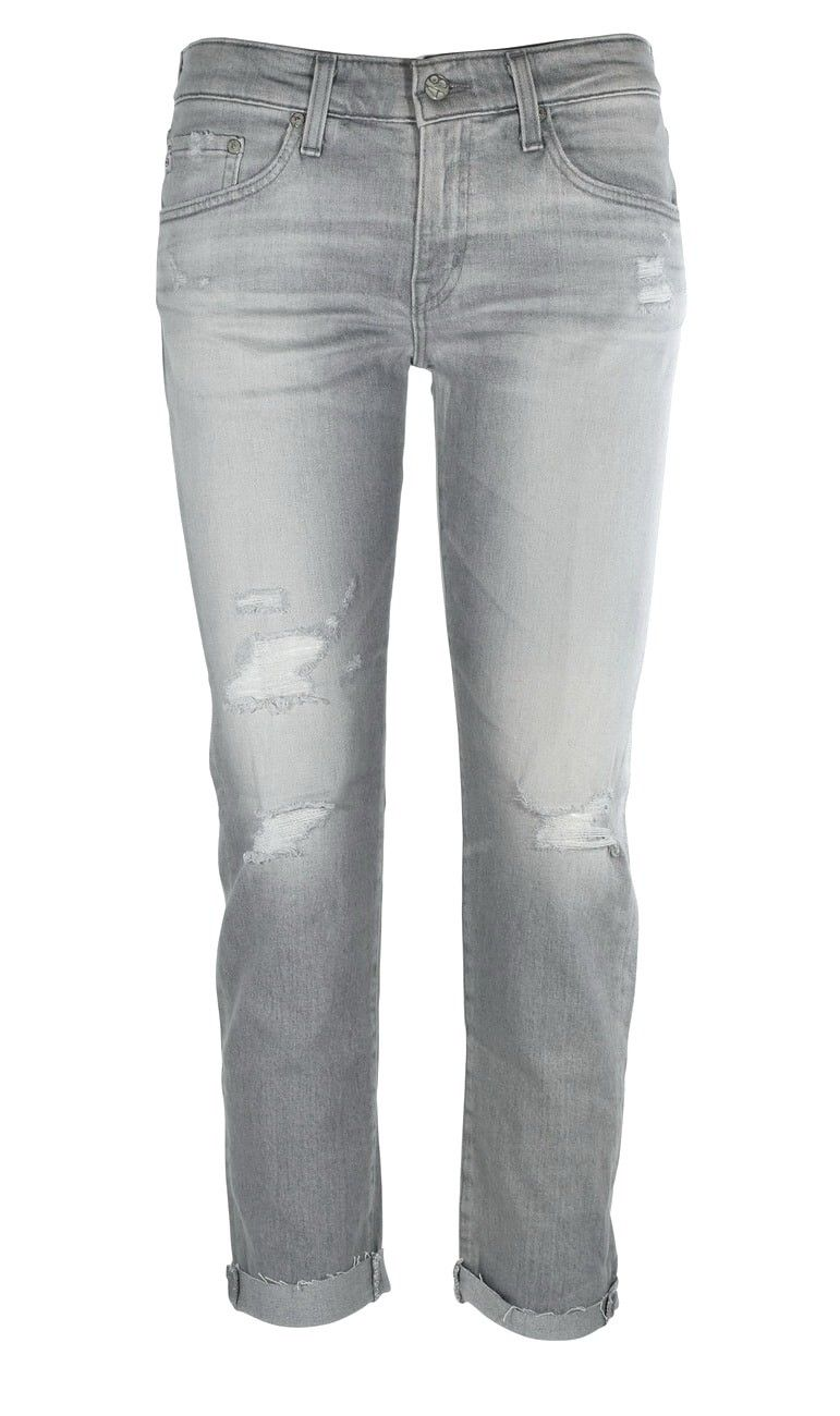 AG - Relaxed Jeans - The Ex-Boyfriend - Lightgrey Destroyed