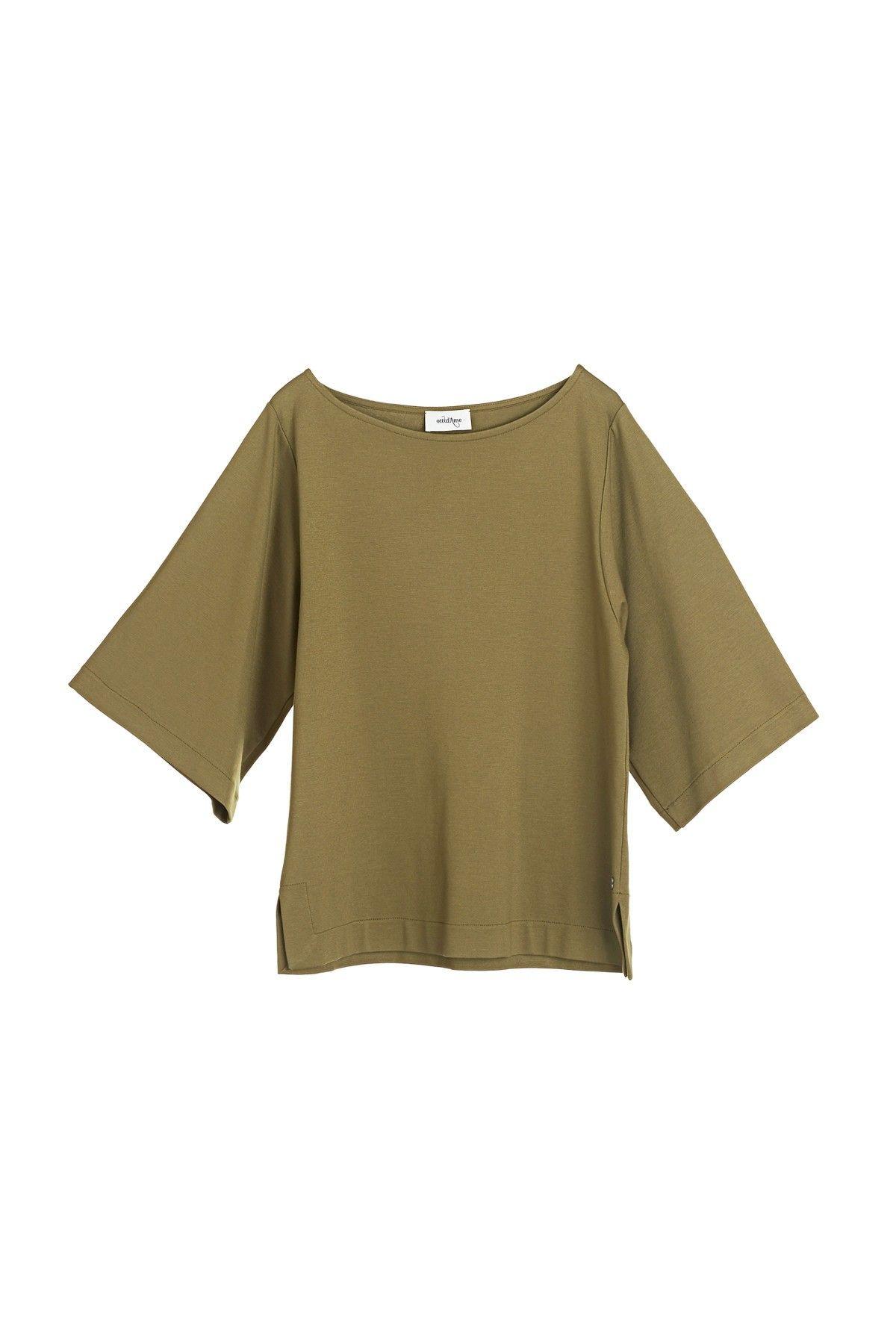 OTTOD'AME - Bluse - Maglia Shirt - Olio