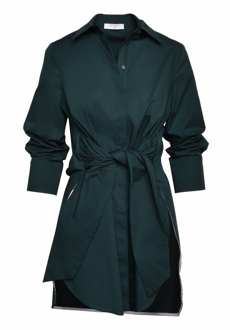 BEATRICE B. - Damen Bluse - Blouse 4532 Fabric - Grün