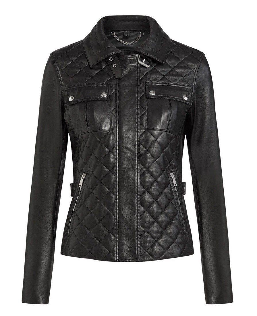 BELSTAFF - Damen Lederjacke - Neta Jacket - Black