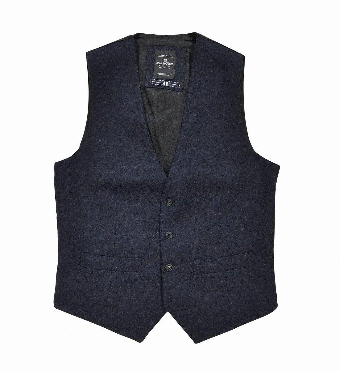 BLUE DE GÊNES - Herren Weste - Romano Wool Gilet - Dark Navy