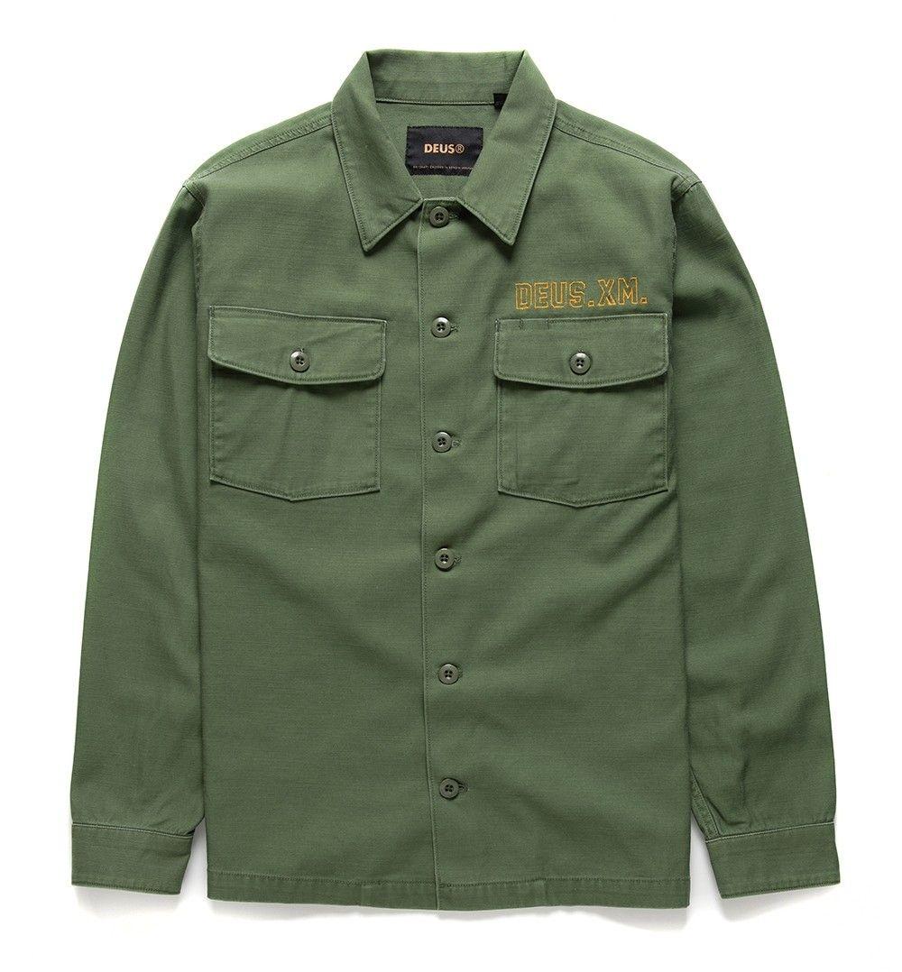 DEUS EX MACHINA - Herren Overshirt - Monty Overshirt Clover - Olive