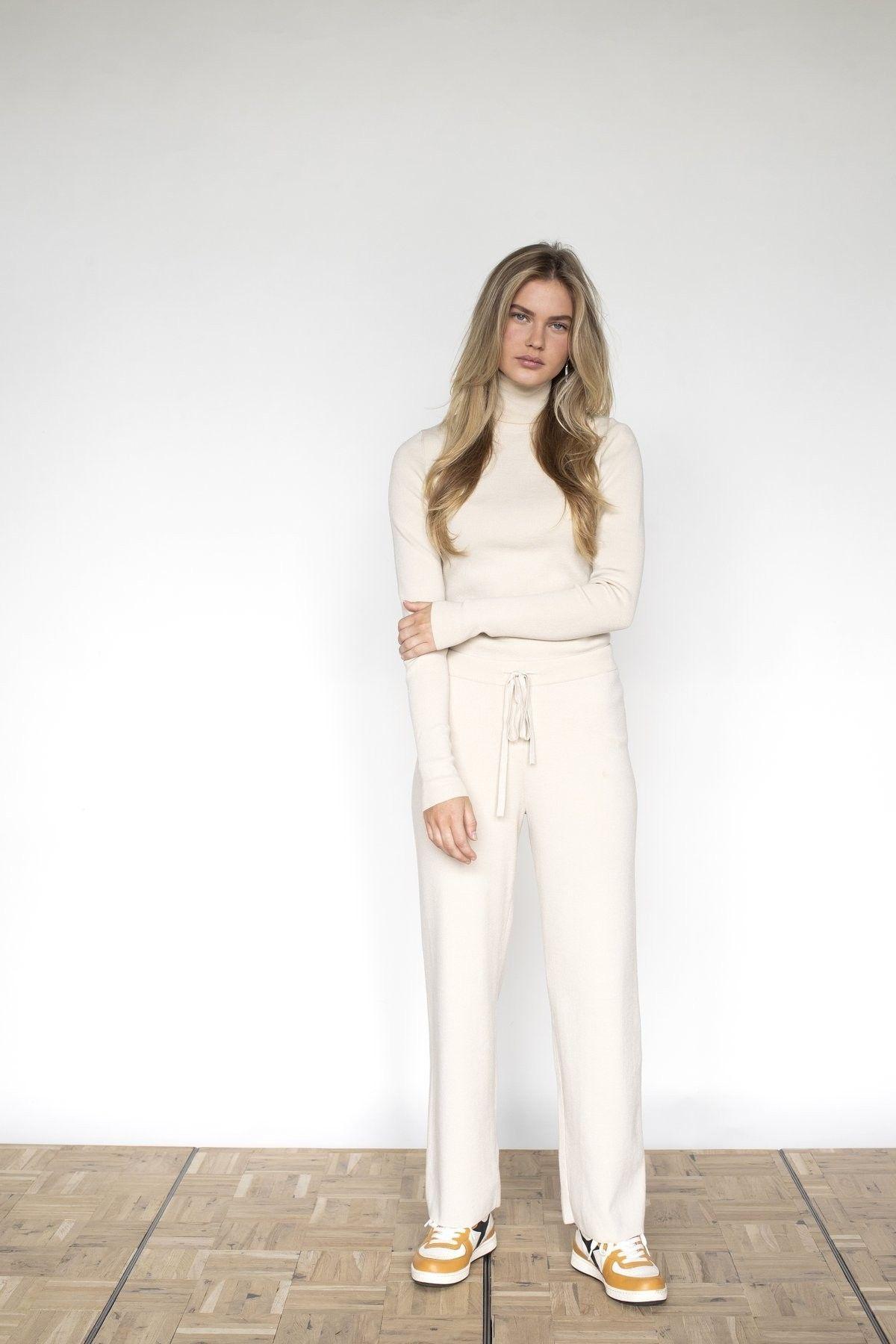 PENN&INK - Damen Hose - Trousers - Sand