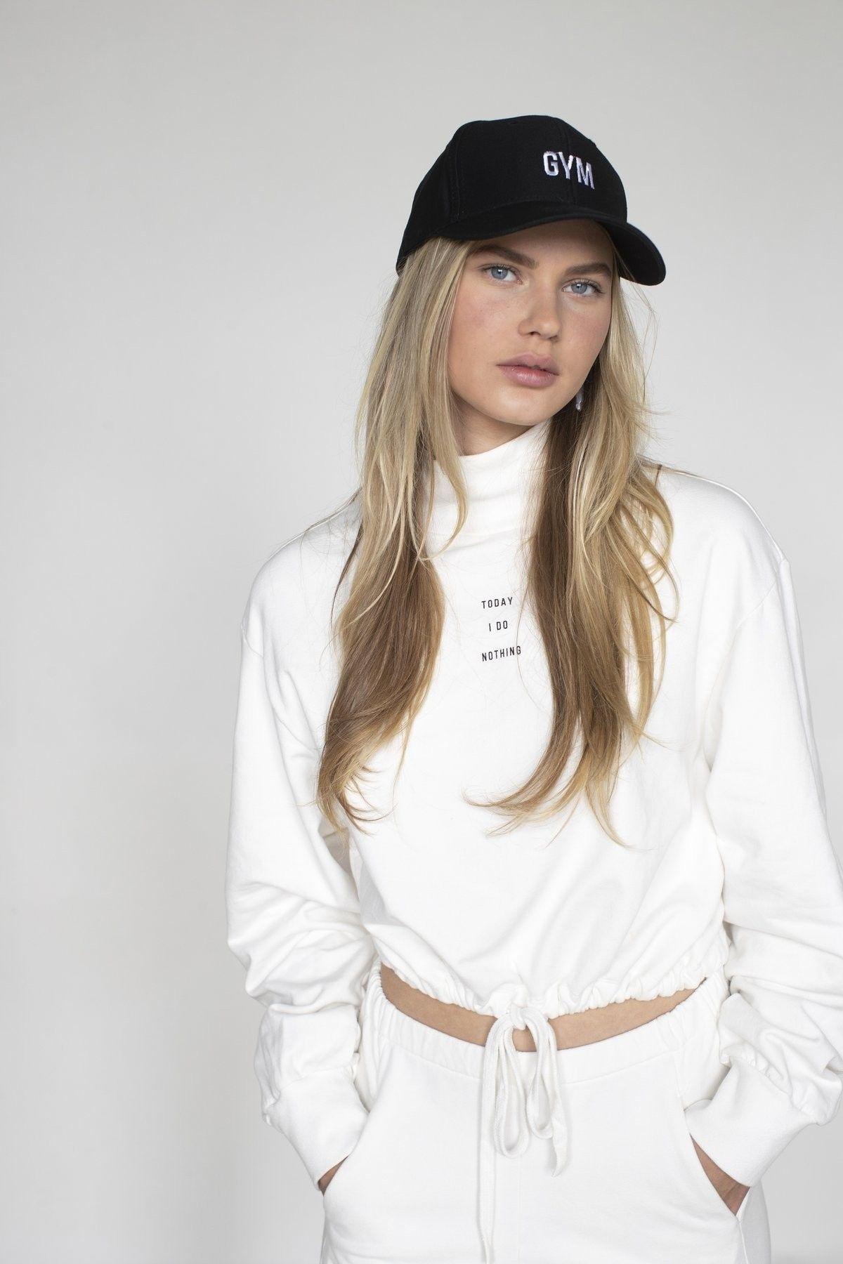 PENN&INK - Damen Pullover - Sweater Print - Off White/Black