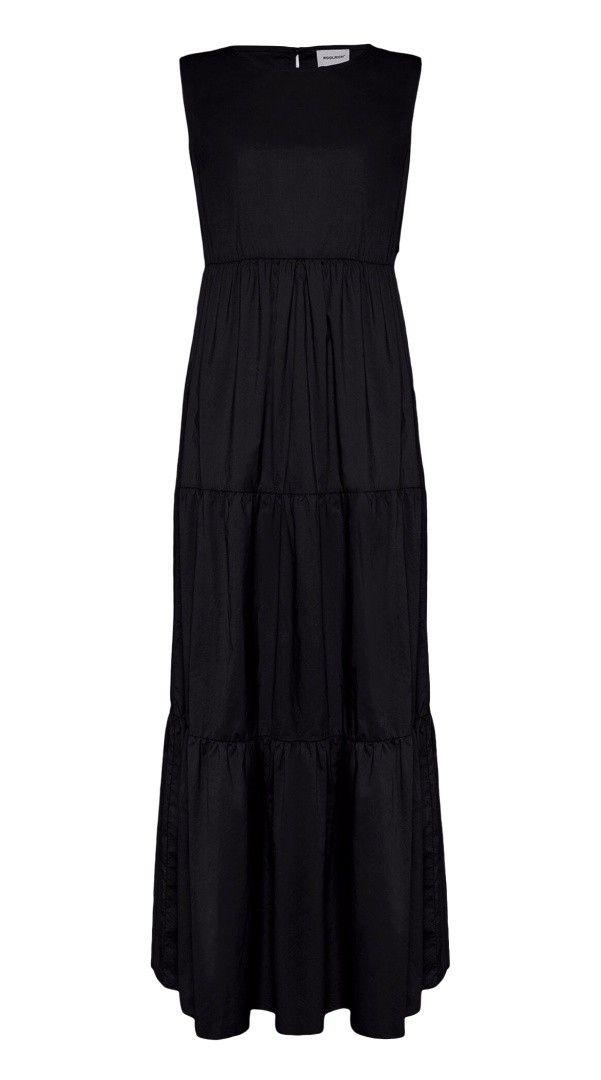WOOLRICH - Damen Kleid - Popeline Maxi-Kleid - Black