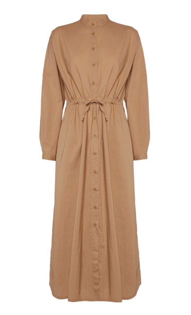 WOOLRICH - Damen Kleid - Popeline LS Dress - Biscuit
