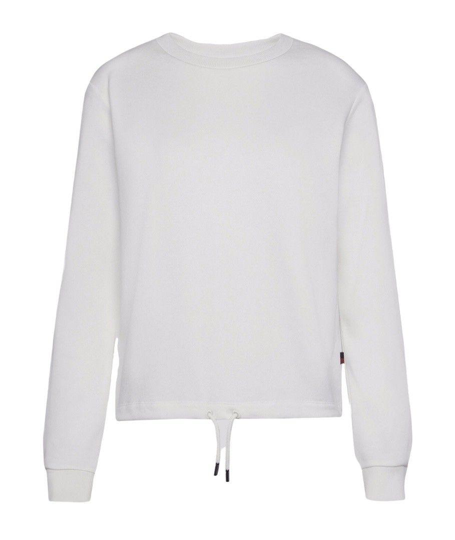 WOOLRICH - Damen Sweater - W'S Fleece Crew Neck - White