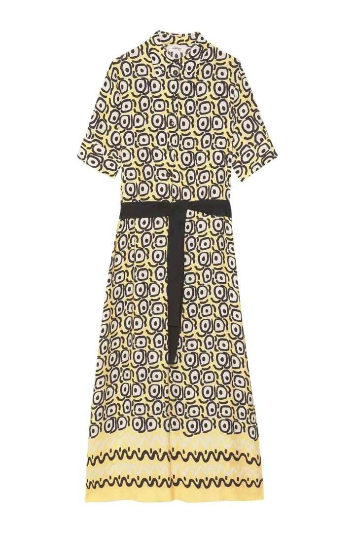 OTTOD´AME - Damen Kleid - Langes Viskosekleid - Banana