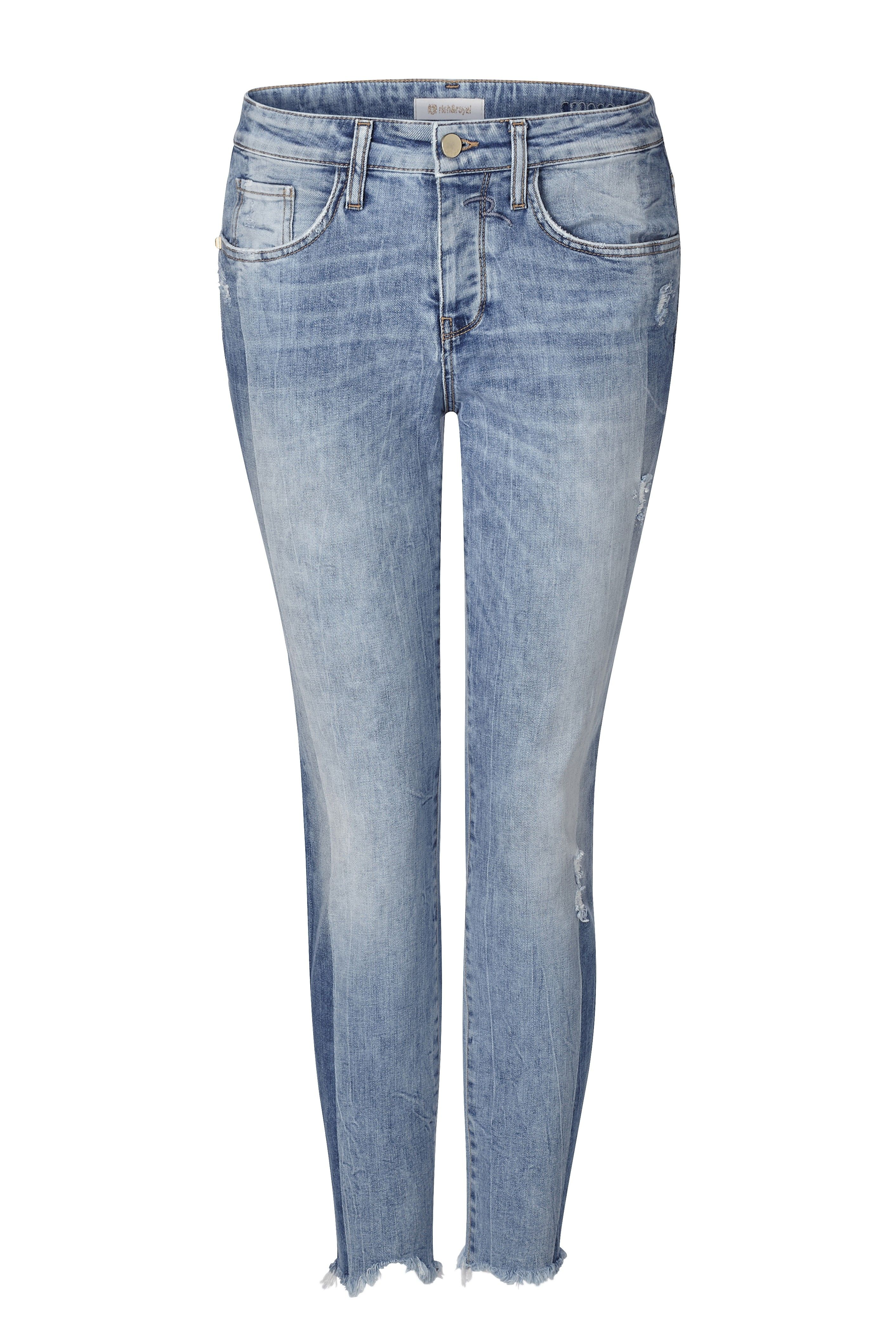 RICH & ROYAL - Damen Jeans - Cropped Relax Vintage Denim - Denim Blue