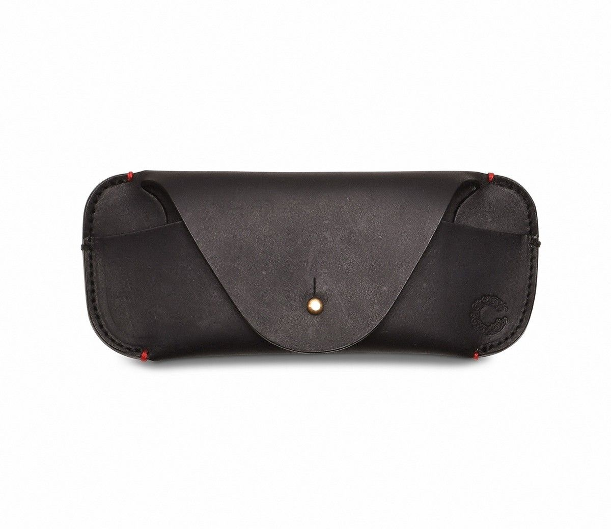 Croots - Leder Brillenetui - Vintage Leather Glasses Case - Black -