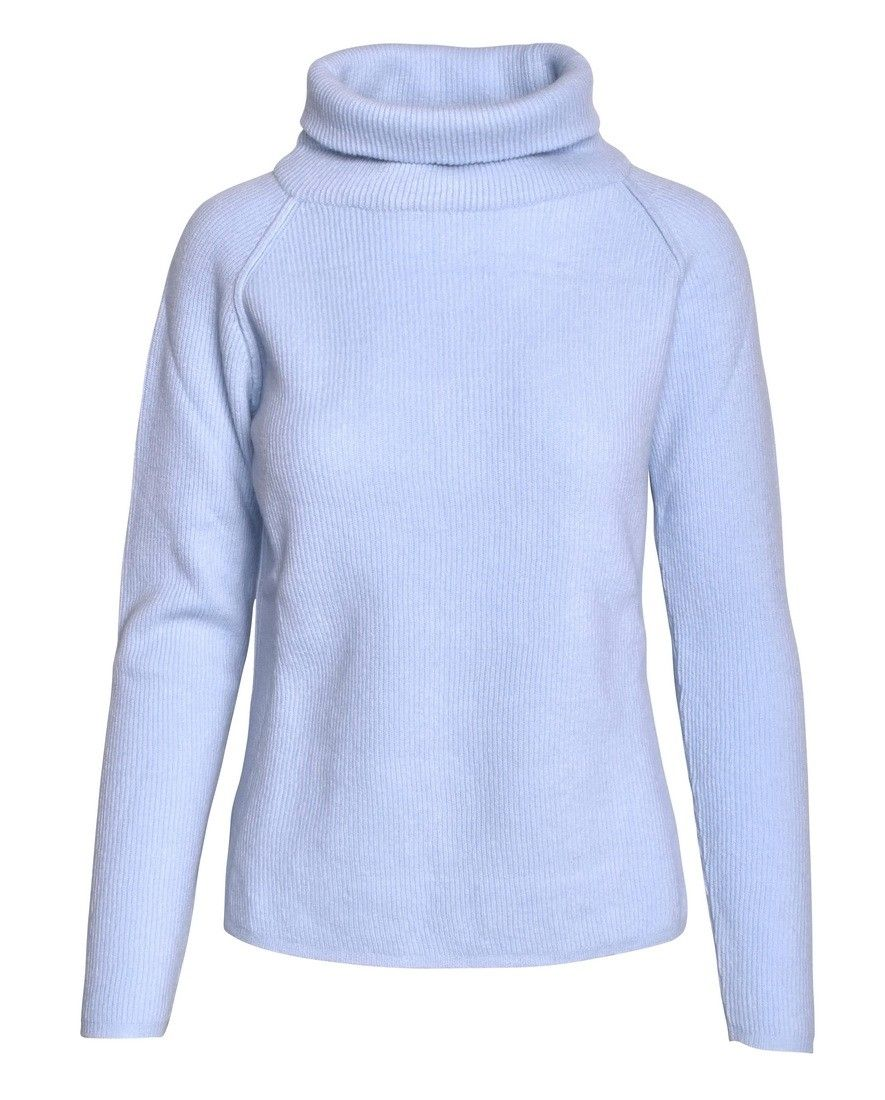 CROSSLEY - Damen Pullover - Ladies LS Raglan Turtleneck - Cielo