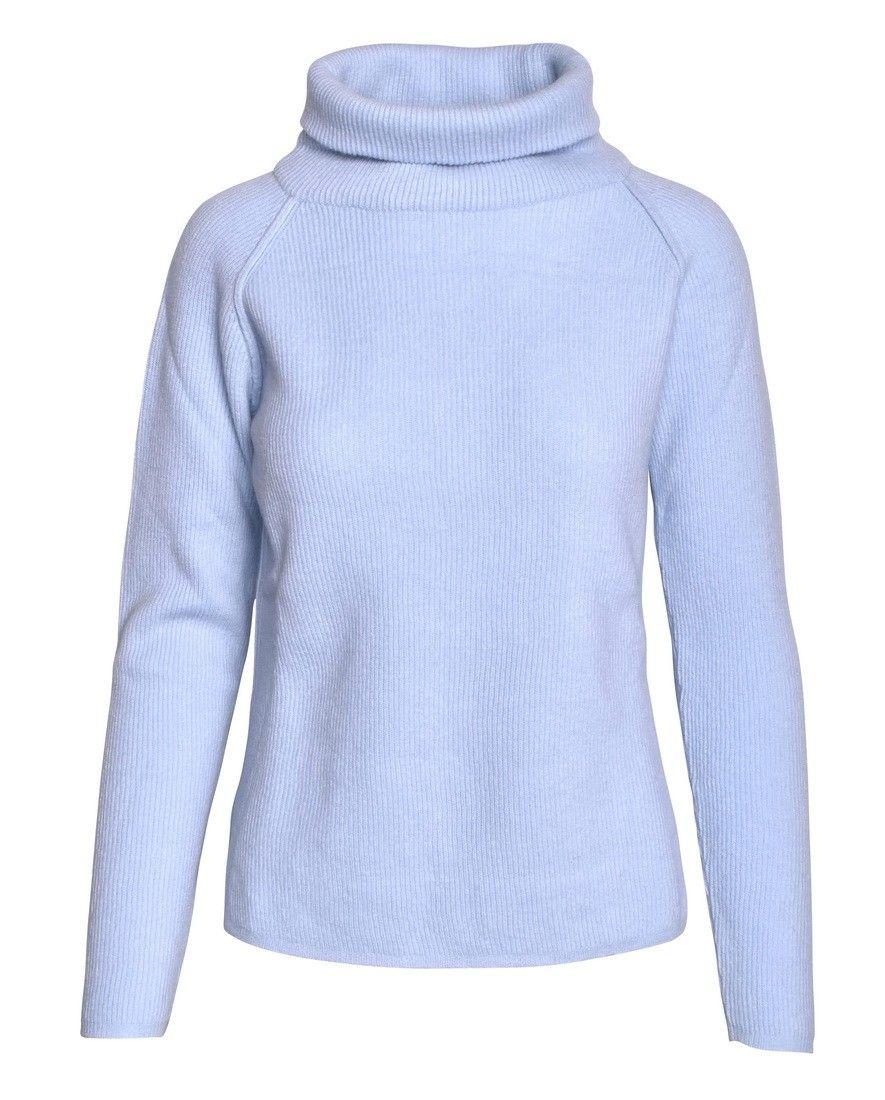 CROSSLEY - Damen Pullover - Ladies LS Raglan Turtleneck - Cielo