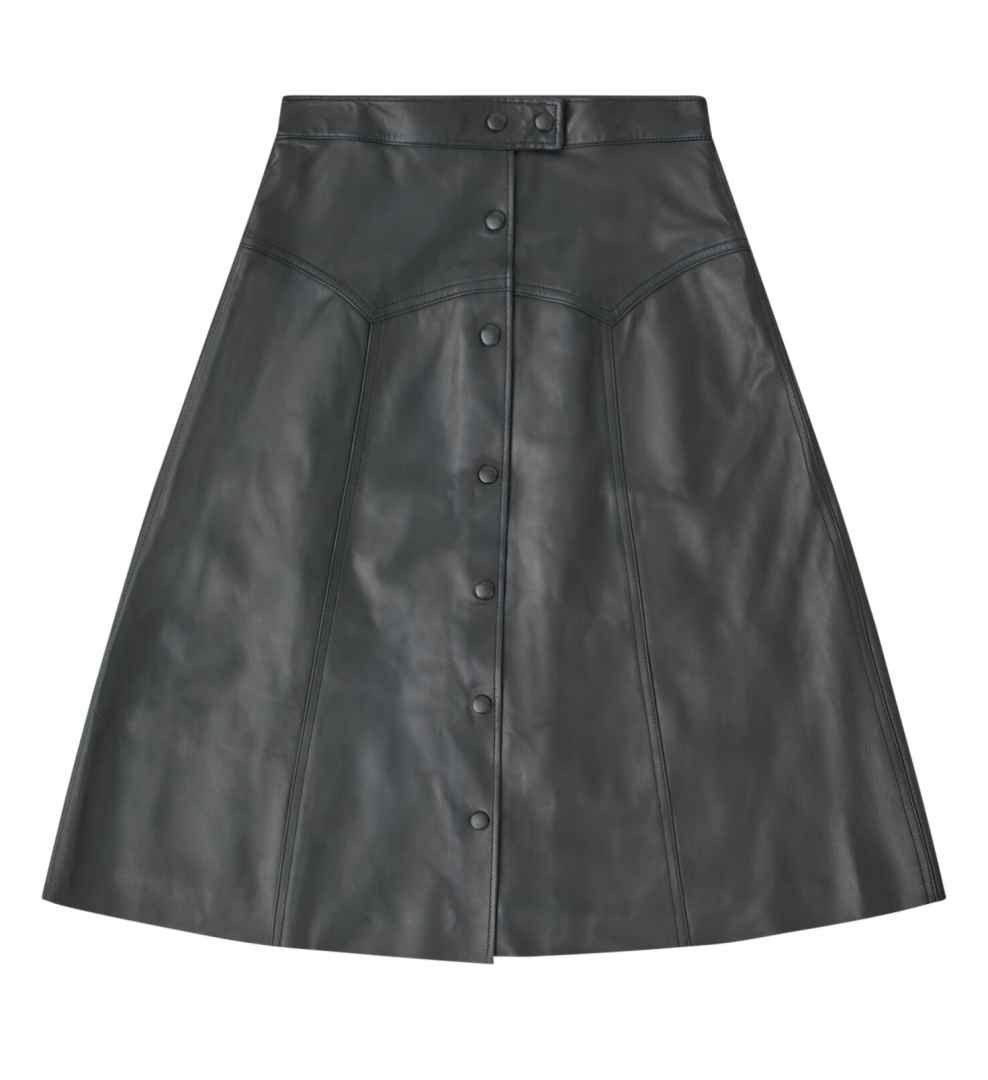 BELSTAFF - Damen Lederrock - Della Skirt Lederrock - Black