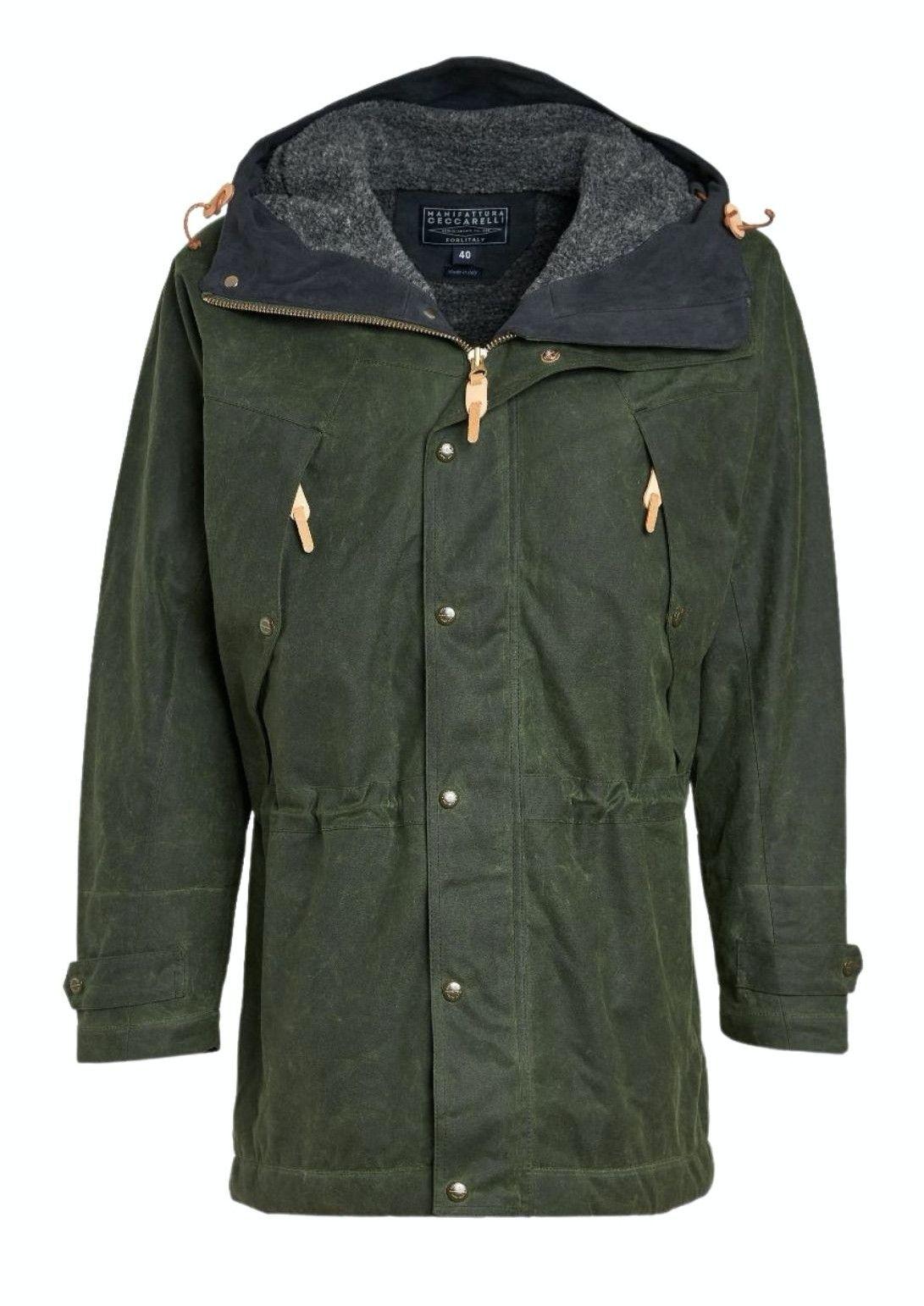MANIFATTURA CECCARELLI - Herren Jacke - Long Mountain Jacket - Fleece Lining - Dark Green