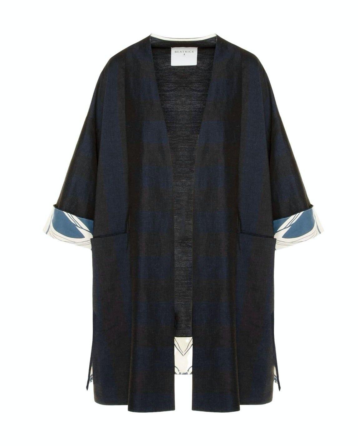 BEATRICE.B - Damen Kimono - Smoky Black