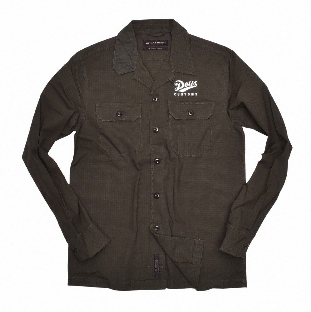 DEUS EX MACHINA - Herren Hemd - Gerber Ripstop Shirt - Forest Green