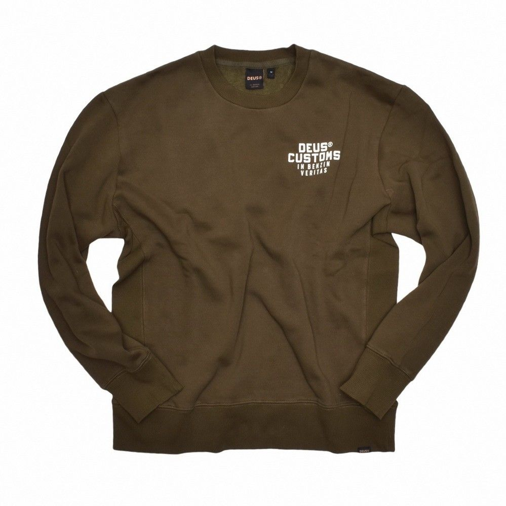 DEUS EX MACHINA - Herren Sweater - Octane Reignbow Crew - forest green