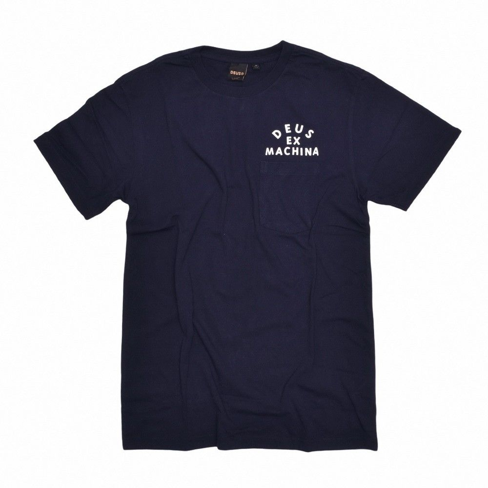 DEUS EX MACHINA - Herren T-Shirt - Canggu Pocket Tee - Midnight Blue