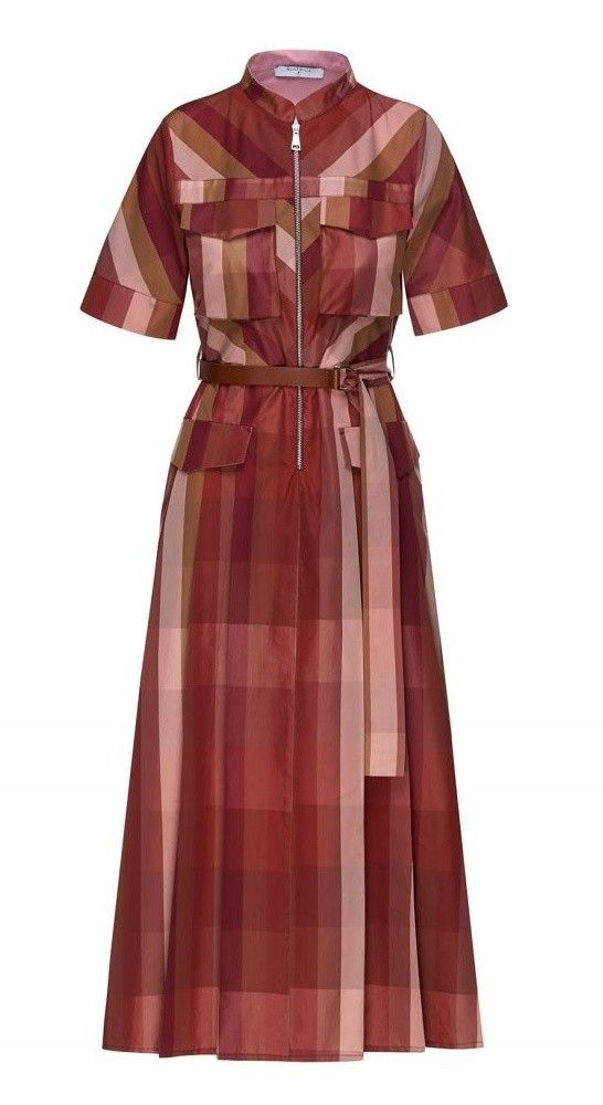 BEATRICE.B - Damen Kleid - Dress With Geometric Pattern - Camel / Red