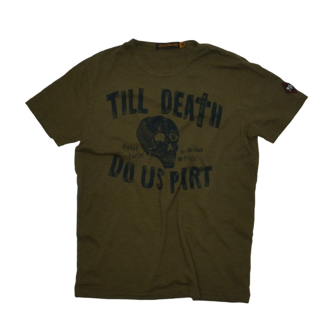 JOHNSON MOTORS - Herren T-Shirt - Till Death - Olive
