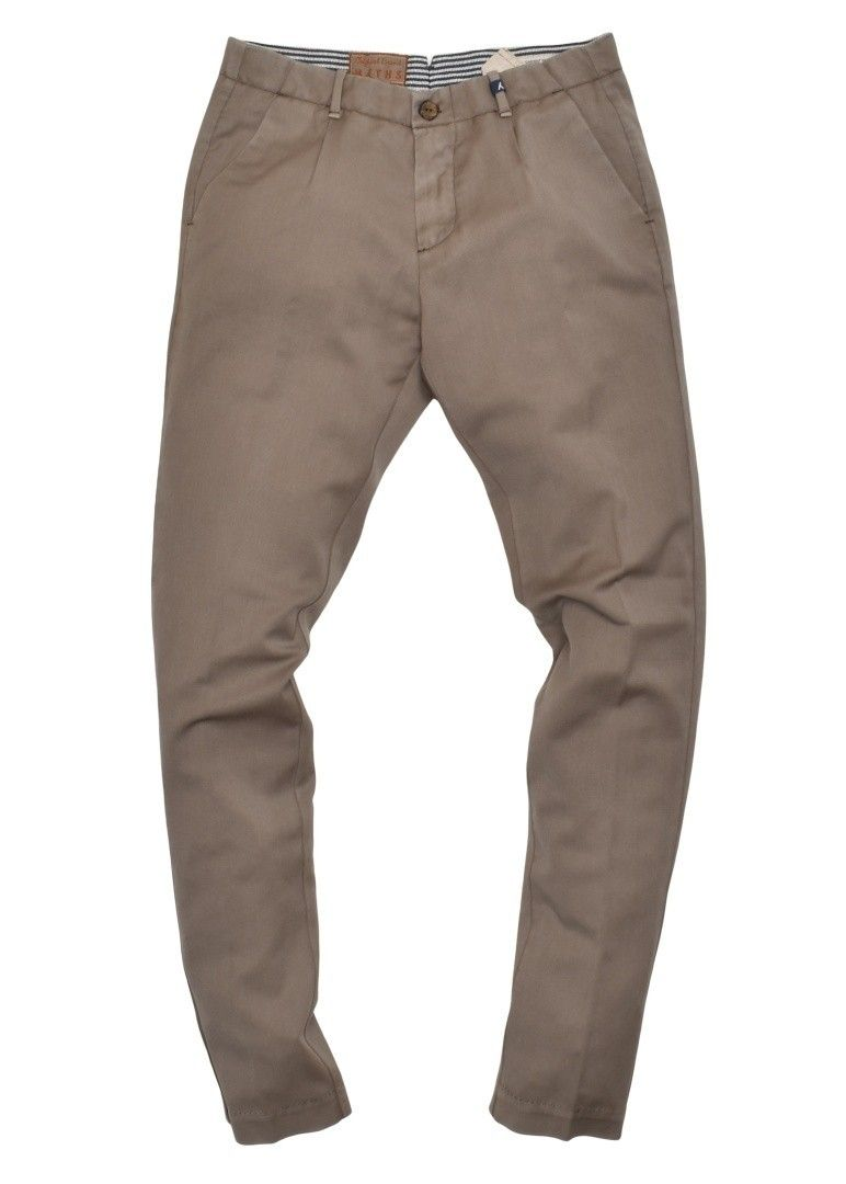 MYTHS - Herren Hose - Chino Wool Garment Washed - Mud