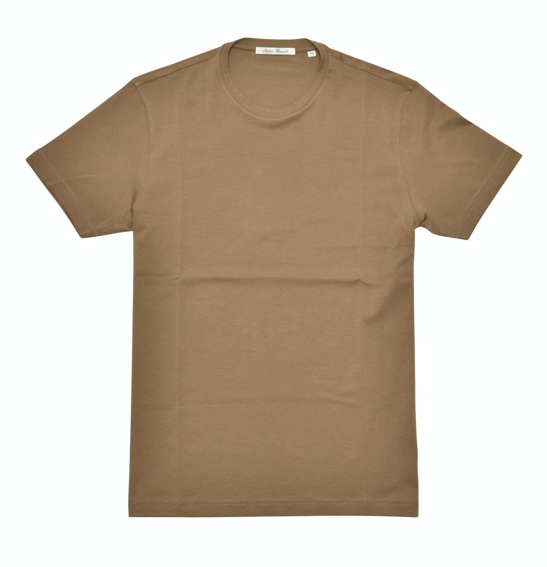 STEFAN BRANDT - Herren T-Shirt - Round Neck Enno 30er - Kaki Oscuro