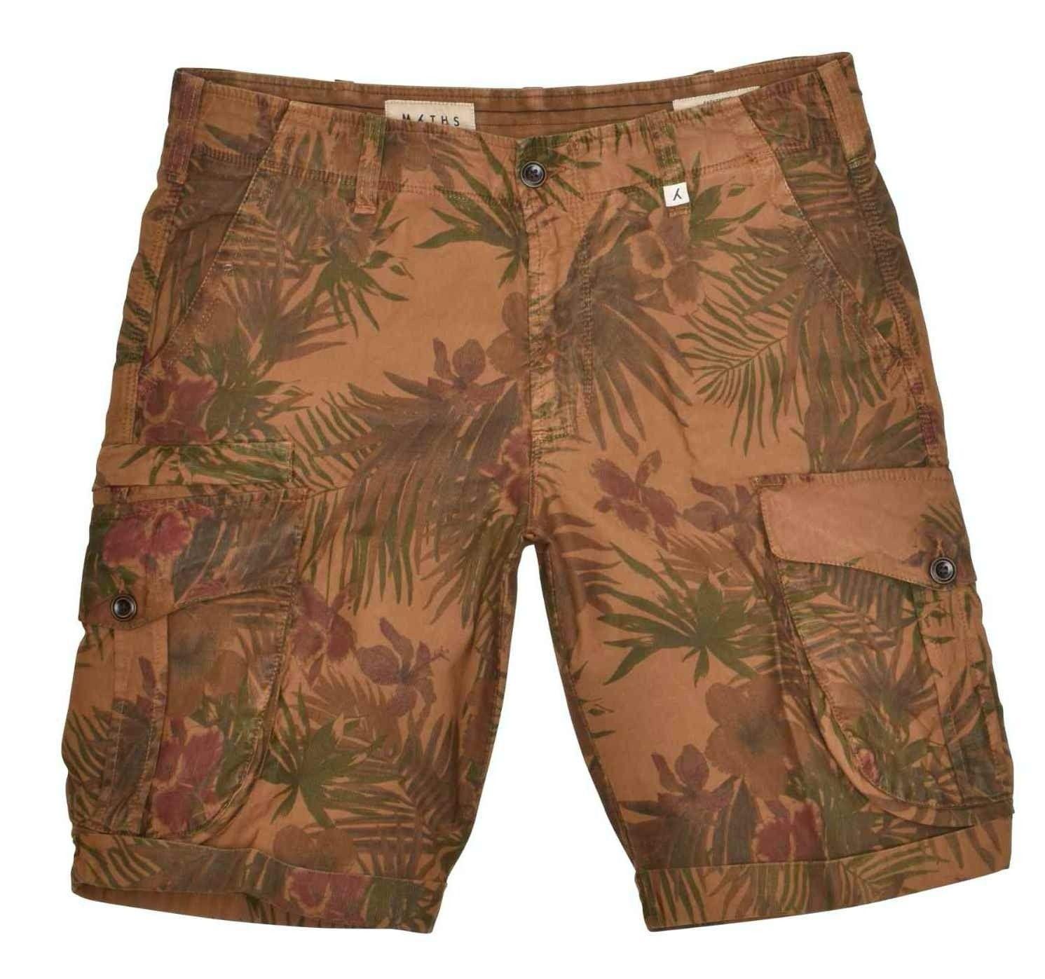 MYTHS - Herren Shorts - Short Cargo Trousers - Caramel Hibiskus