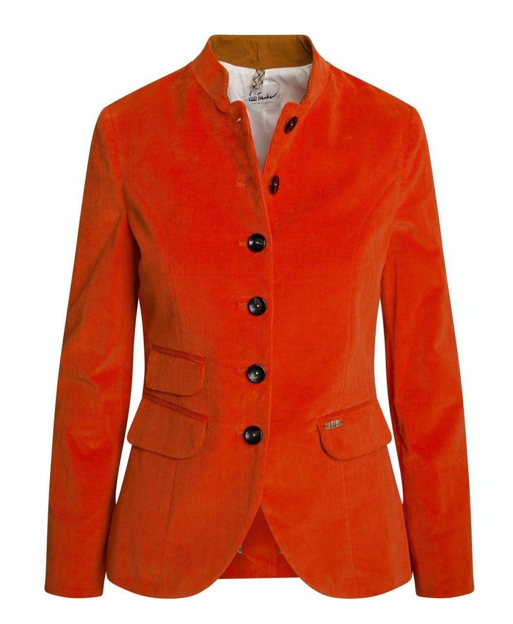 LUIS TRENKER - Damen Blazer - Randa Cord Stretch - Orange