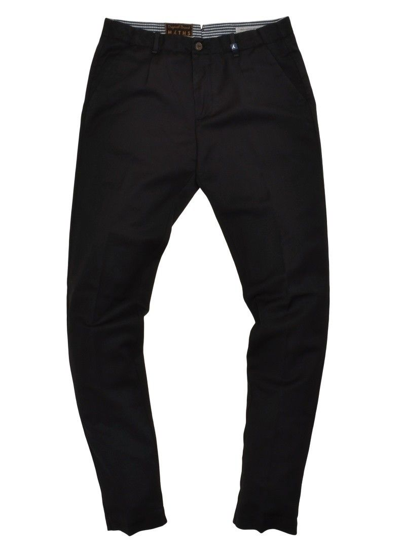 MYTHS - Herren Hose - Chino Wool Garment Washed Pants - Black