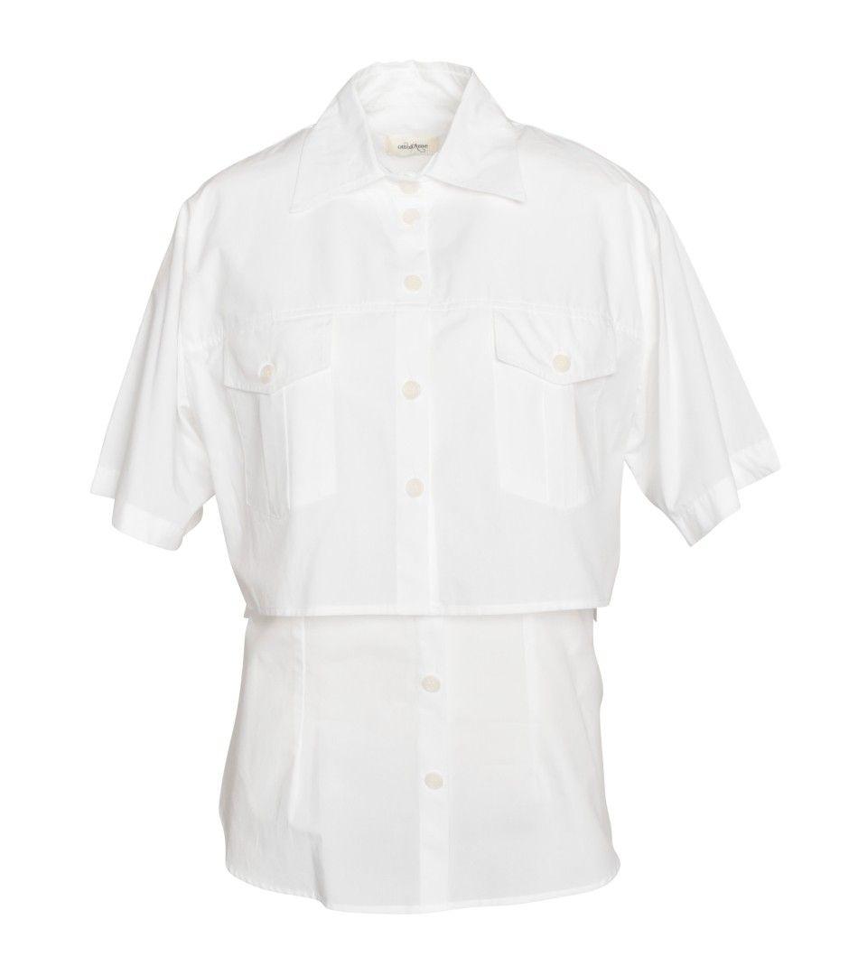 OTTOD`AME - Damen Bluse - Camicia - Bianco