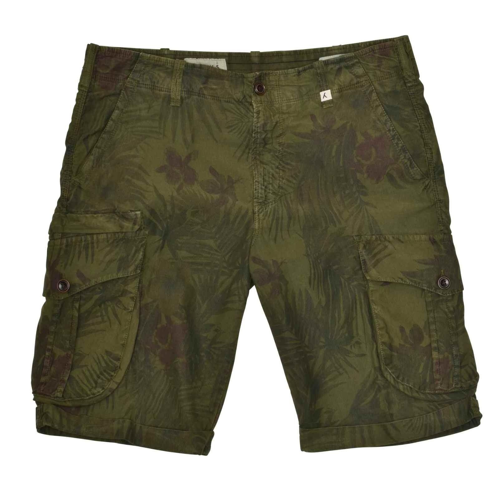 MYTHS - Herren Shorts - Short Cargo Trousers - Green Jungle