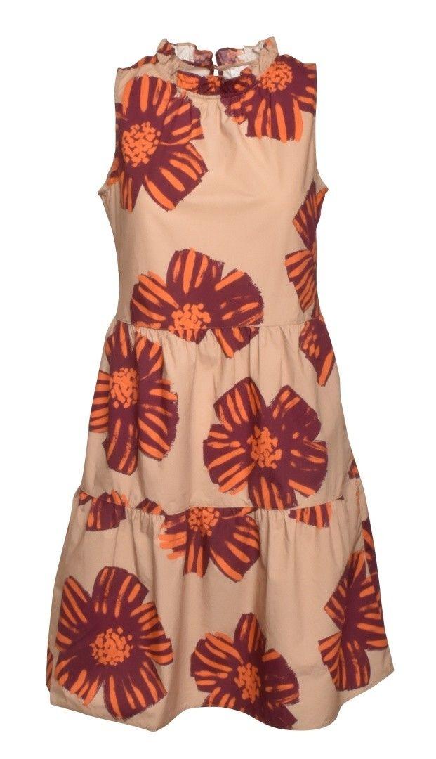 0039 ITALY - Damen Kleid - Karima Dress - Camel Flower