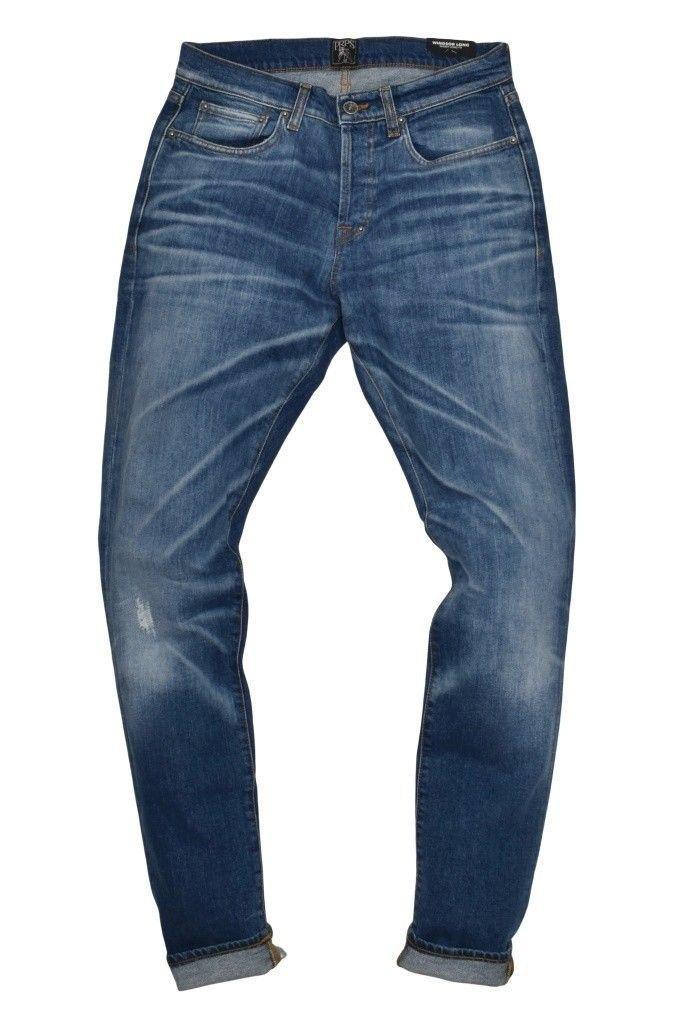 PRPS - Herren Jeans - Windsor Long - Spider Wash - Blue