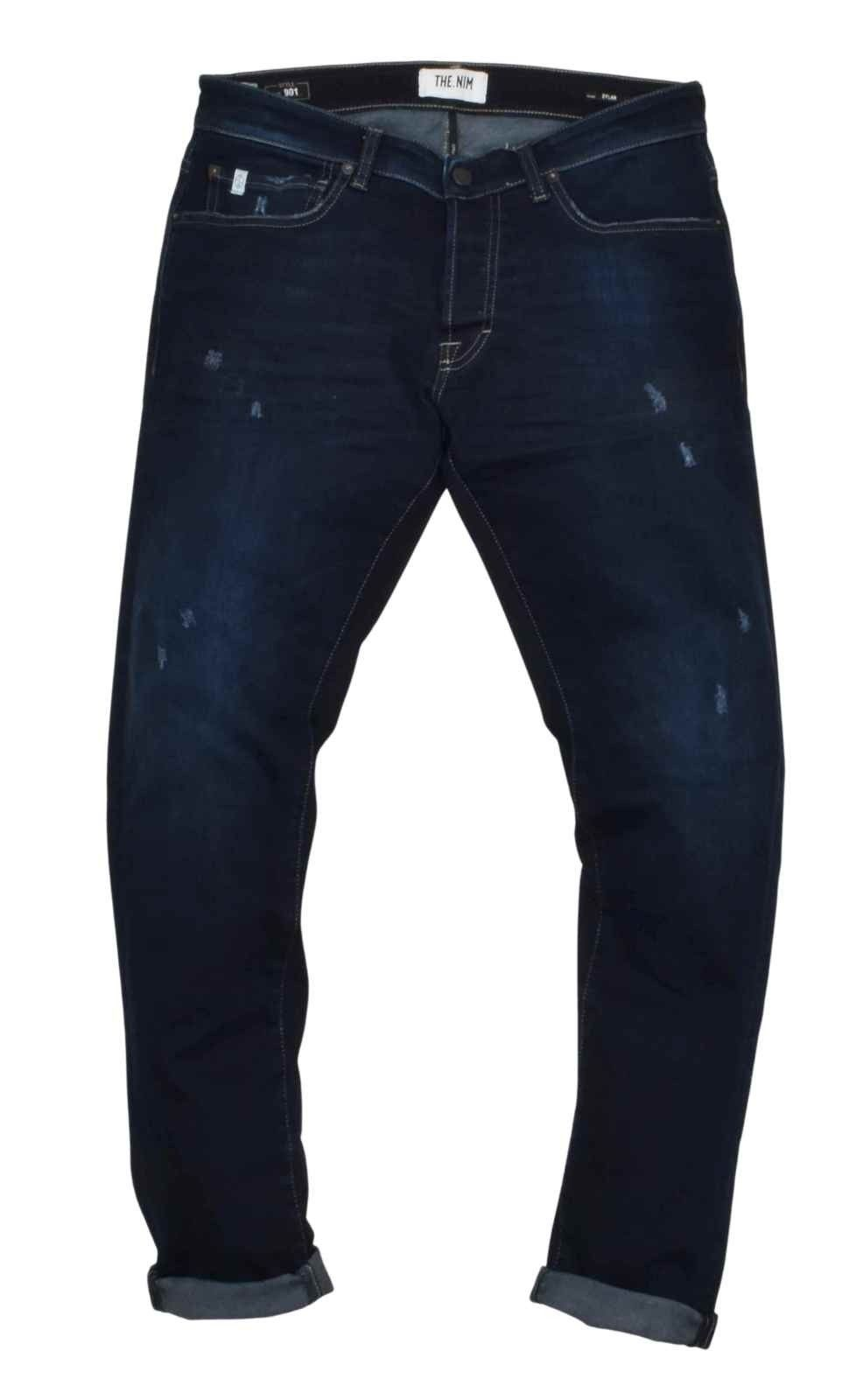 THE.NIM - Herren Hosen - Dylan Man Jeans Slim Fit - Repaired Dark