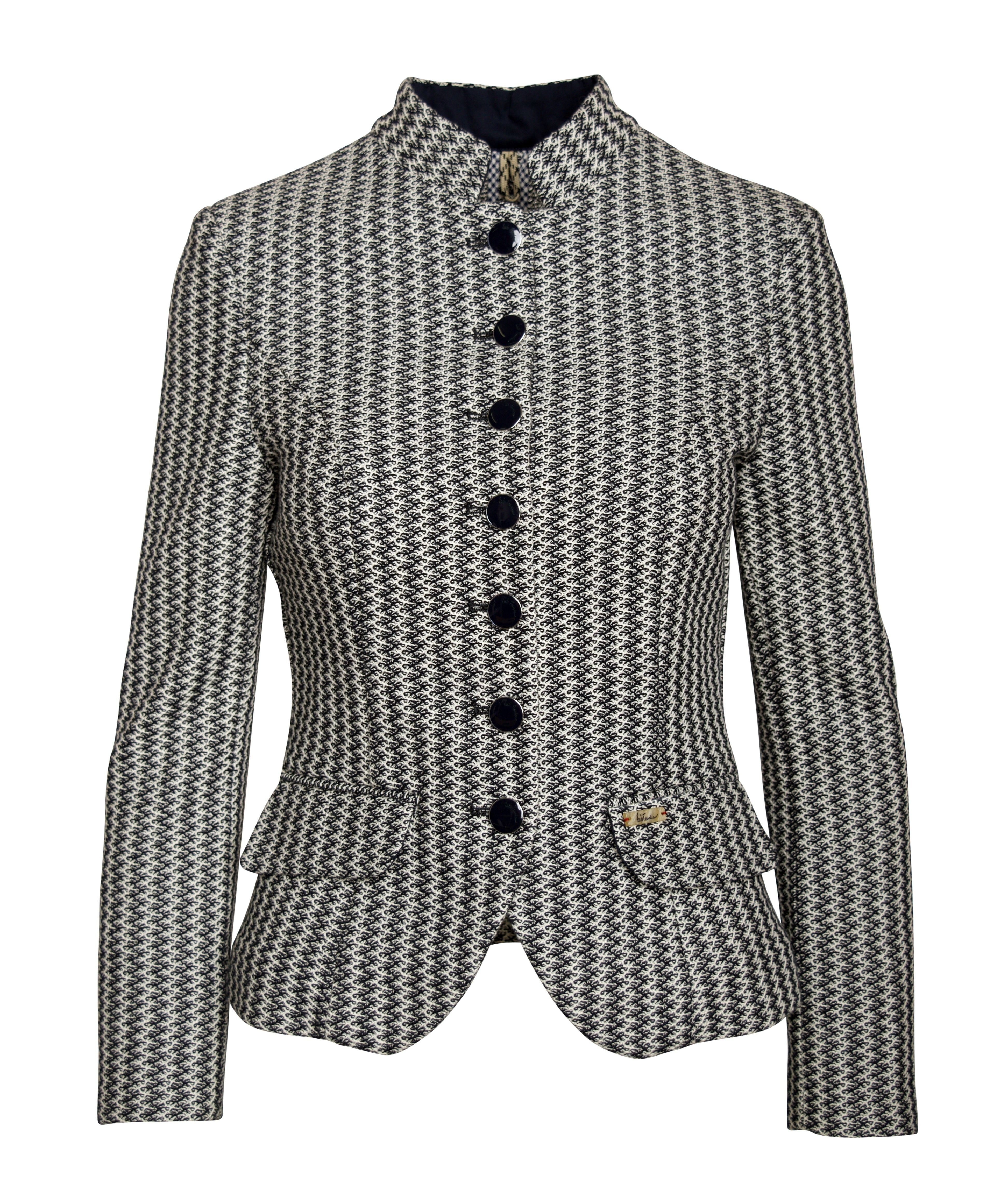 LUIS TRENKER - Damen Blazer - Randa Jersey Crochet - Dunkelblau