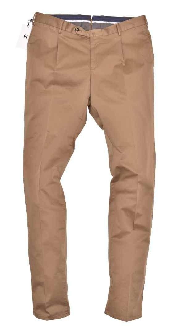 PT TORINO - Herren Hose - Super Slim Fit Pantalone - Fango