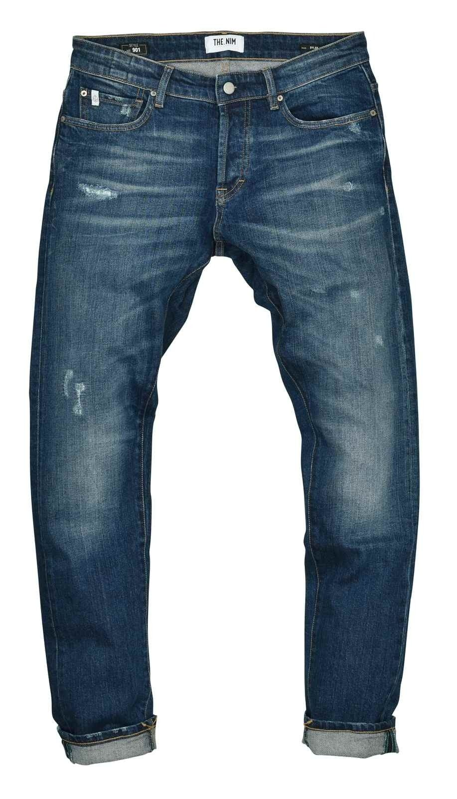 THE.NIM - Herren Jeans - Dylan Slim Fit Jeans - Destroyed Repaired