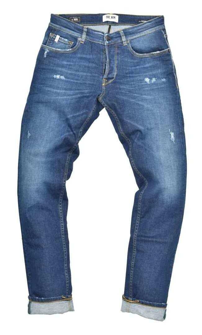 THE.NIM - Herren Jeans - Morrison Man Jeans Slim Tapered Fit - Organic Cotton - Special Dark