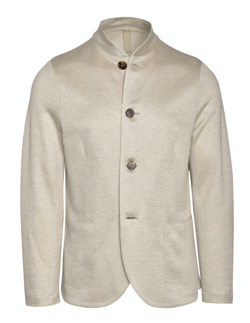 HARRIS WHARF LONDON - Herren Sakko - Men Nehru Jacket Linen - Rope