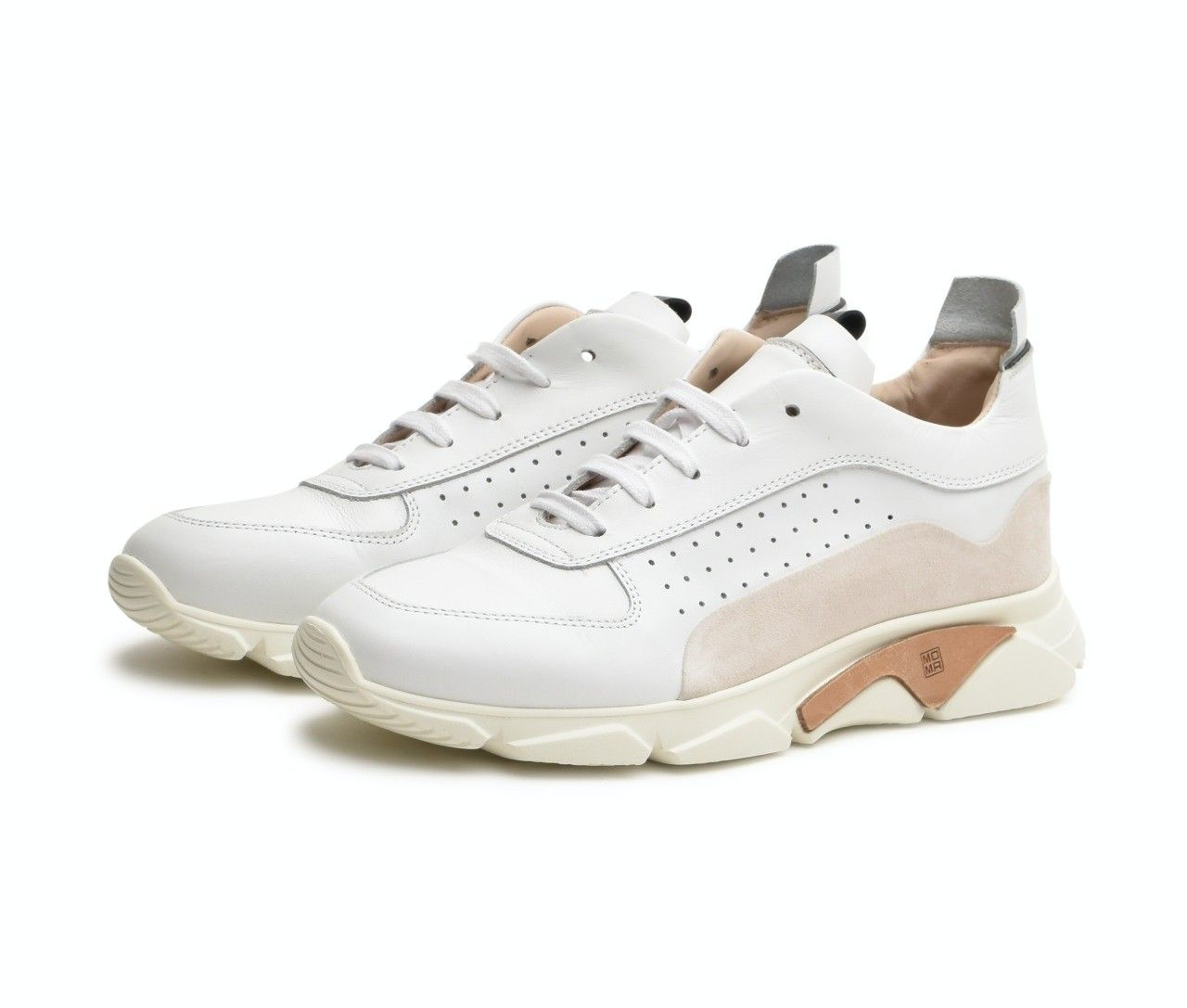MOMA - Herren Sneaker - Box & Tony - Bianco / Bianco