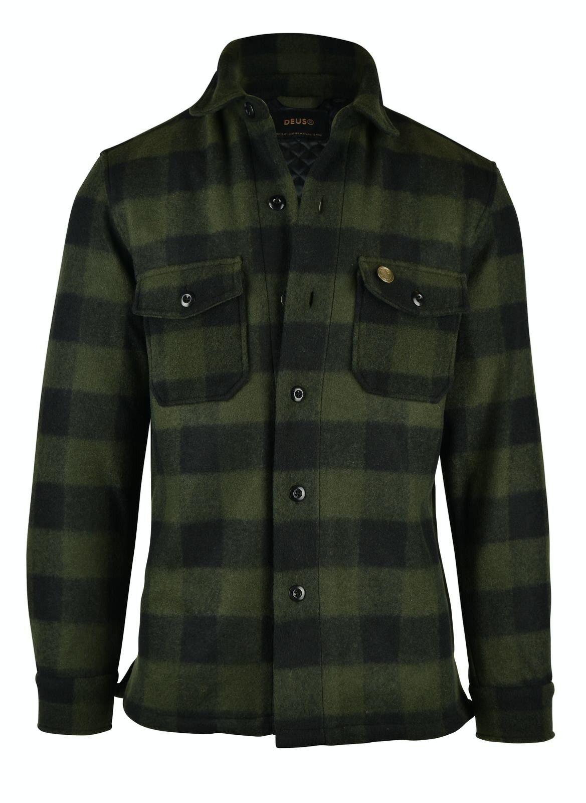 DEUS EX MACHINA - Herren Overshirt - Marcus Flannel Shirt - Forest Night