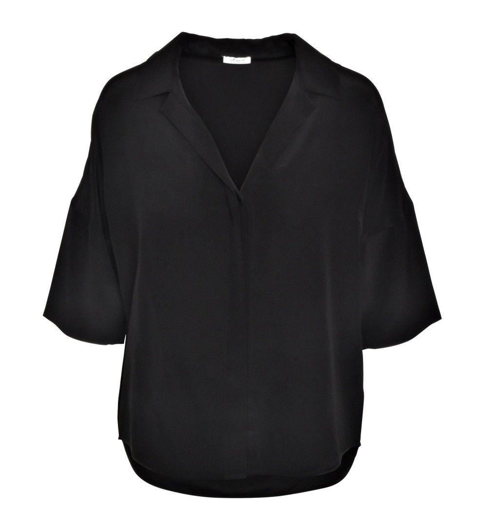 iHEART - Damen Bluse - Seiden Bluse Jasmina - Black