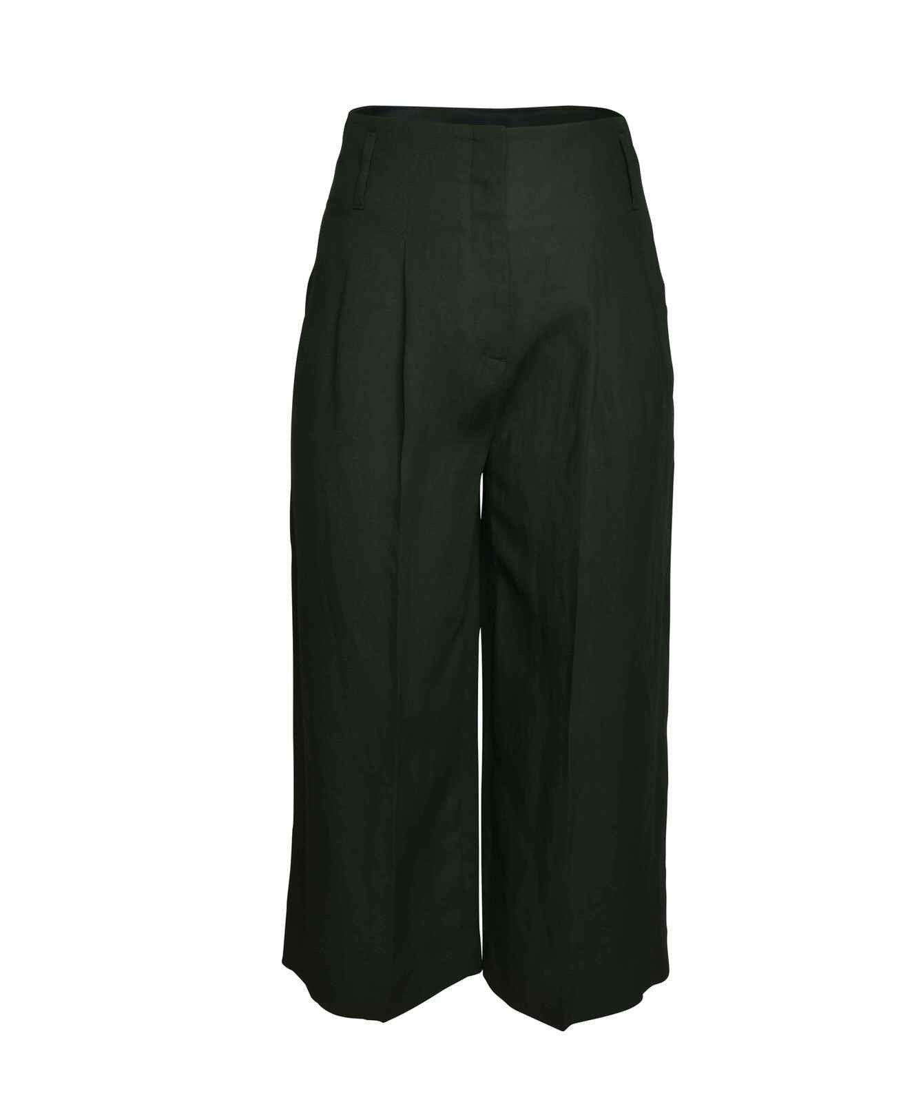 LUISA CERANO - Damen Hose - Wide Leg Pants - Thyme