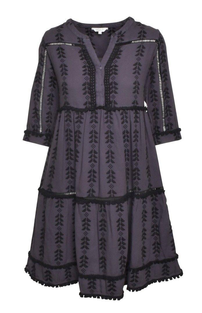 FROGBOX - Damen Kleid - Jaquard Dress - Aztec Blue