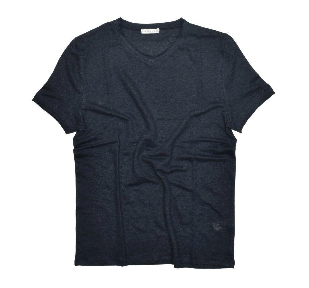 KIEFERMANN - Herren T-Shirt - Flynn - Blue Petrol