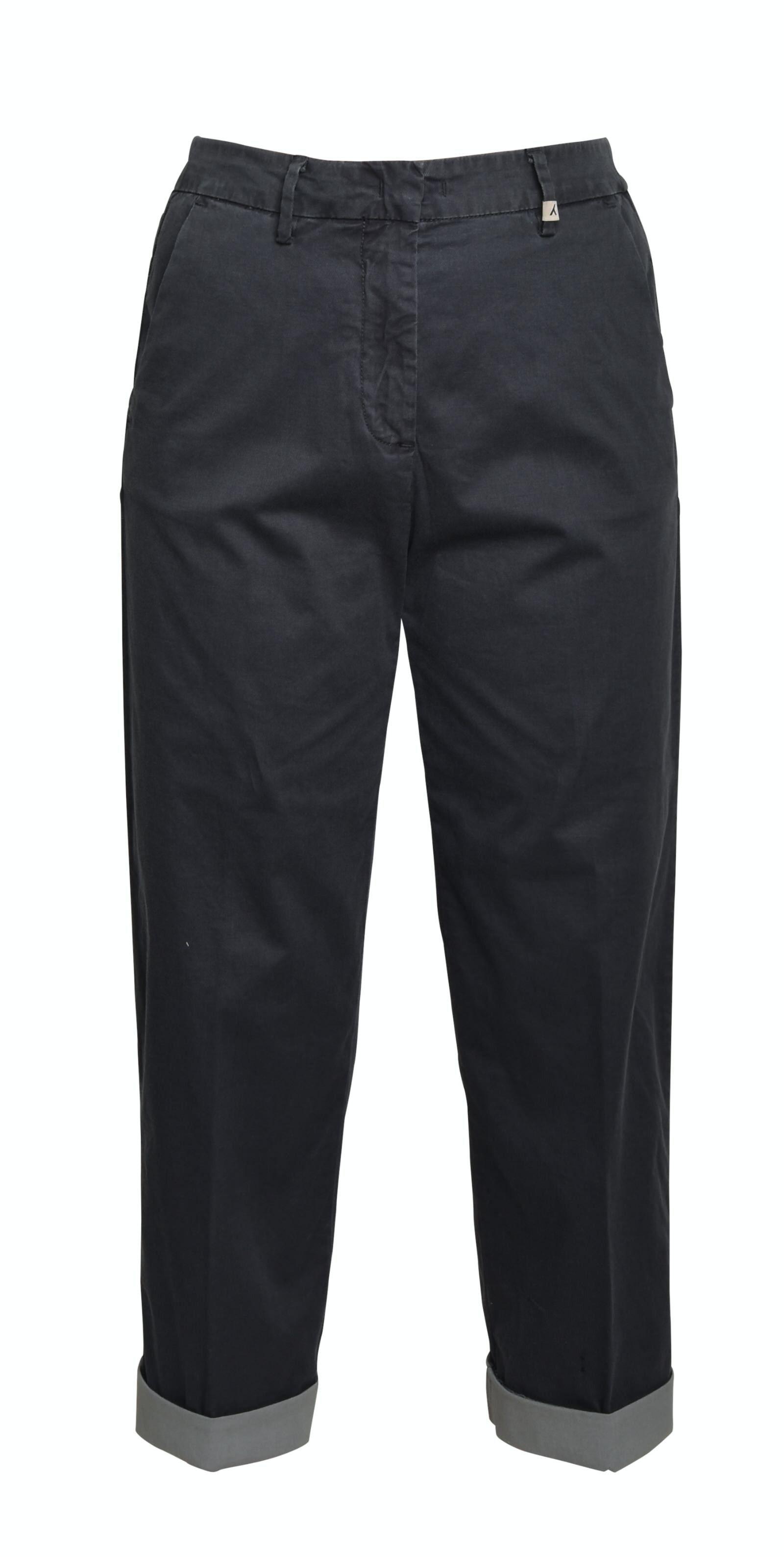 MYTHS - Damen Hose - Pantalone Lungo - Grigio