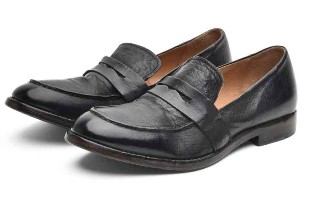 MOMA - Damen Schuhe - Sombrero Penny Loafer - Nero