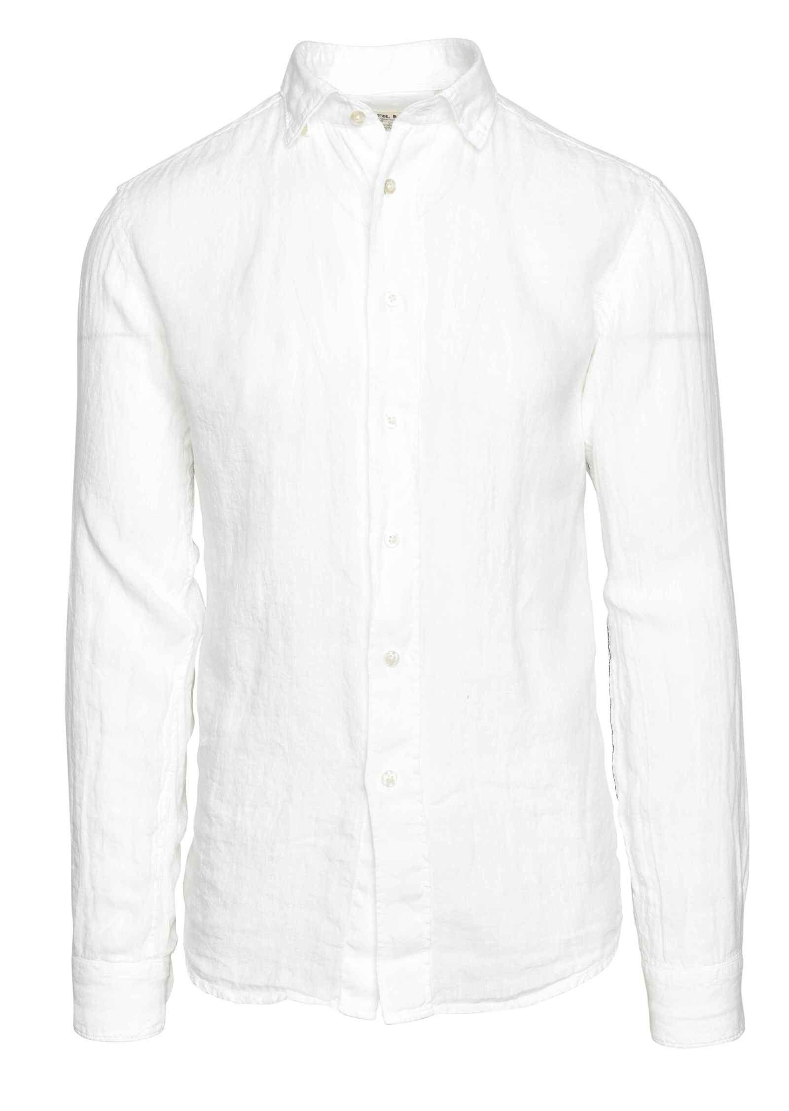 FIL NOIR - Herren Hemd - Leinenhemd Roma - White
