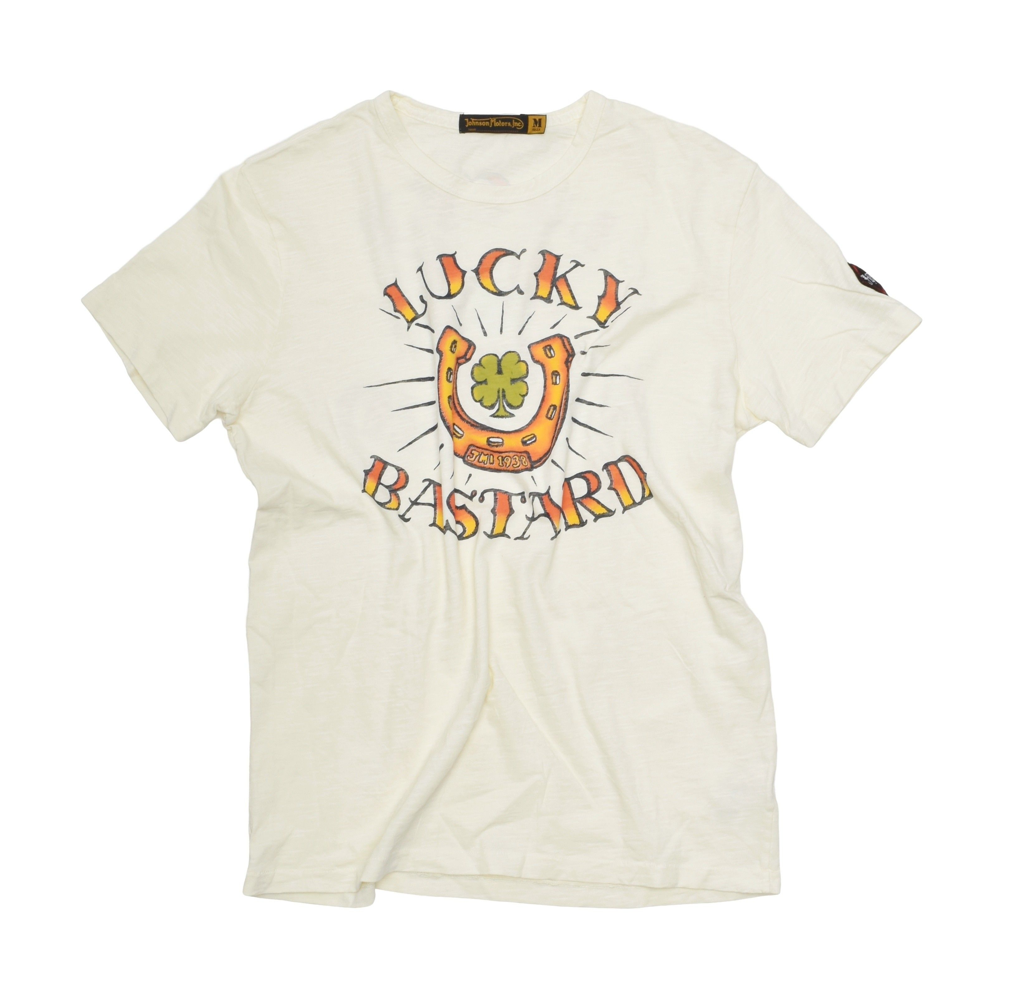 JOHNSON MOTORS - Herren T-Shirt - Lucky Bastard - Yellow Sand
