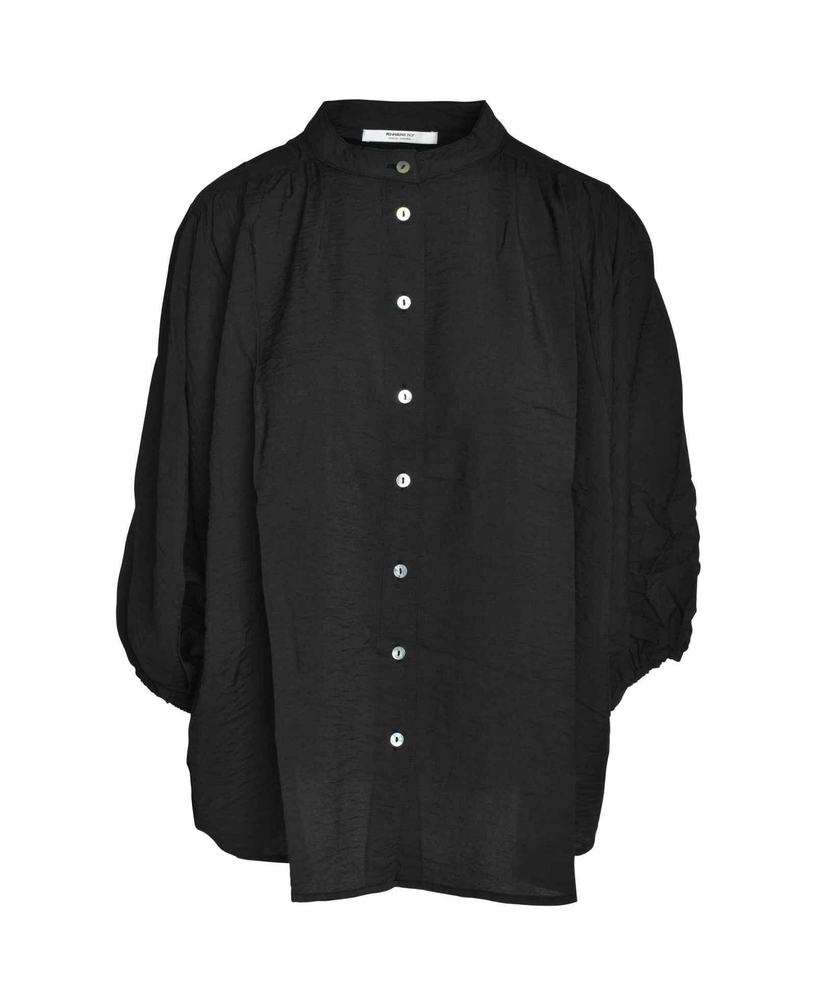 PENN&INK N.Y - Damen Bluse - Black